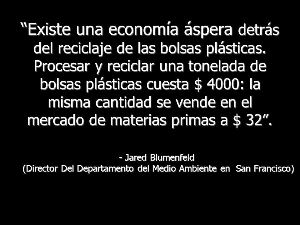 Existe una economía áspera detrás del reciclaje de las bolsas plásticas.