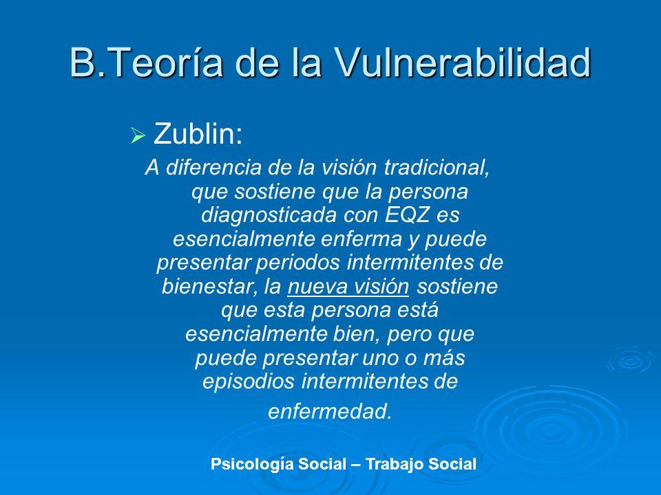 Zublin: A diferencia de la visión tradicional, que sostiene que la persona diagnosticada con EQZ es esencialmente enferma y puede presentar periodos i