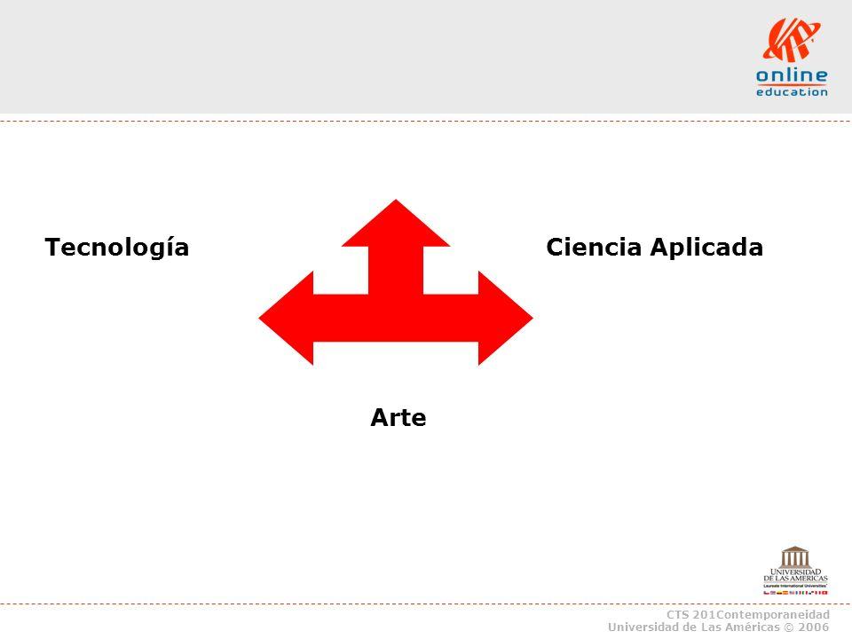CTS 201Contemporaneidad Universidad de Las Américas © 2006 Tecnología Ciencia Aplicada Arte