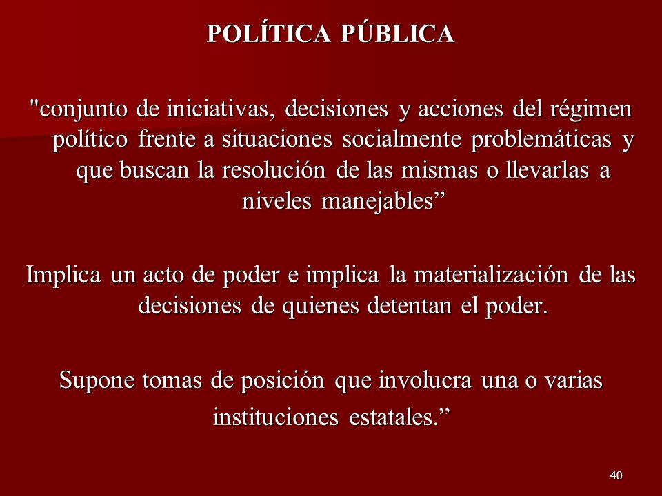 40 POLÍTICA PÚBLICA
