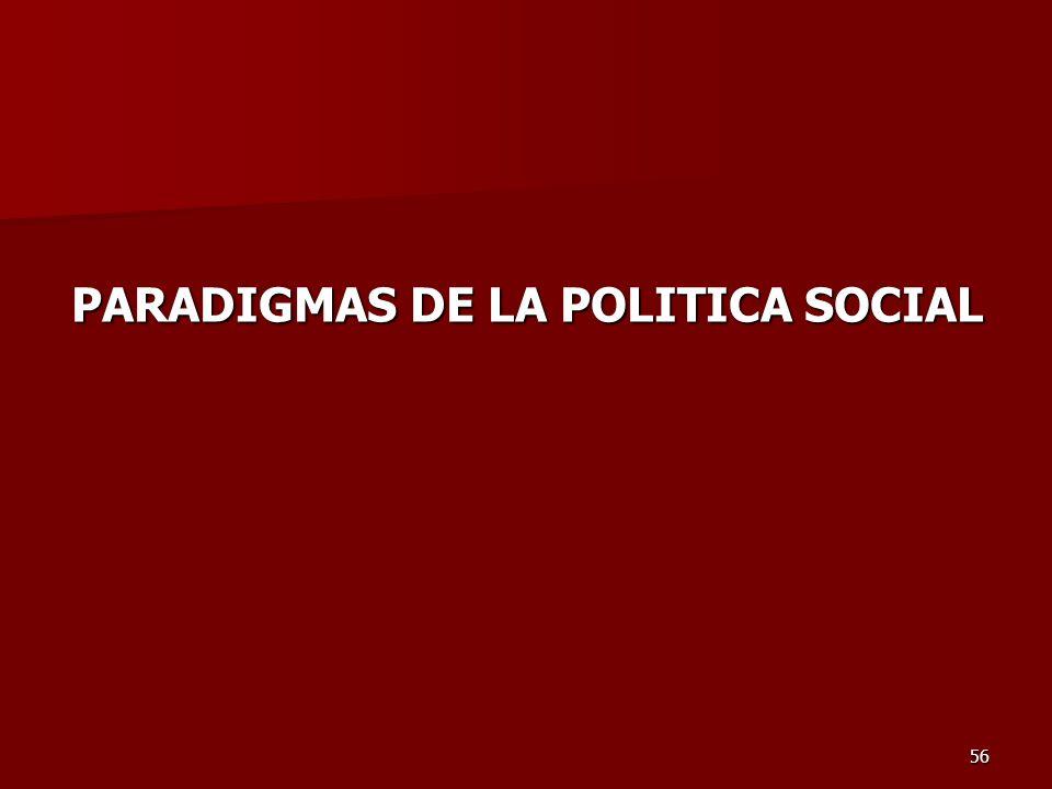 56 PARADIGMAS DE LA POLITICA SOCIAL