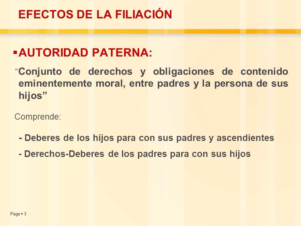Page 14 DERECHOS QUE OTORGA LA PATRIA POTESTAD: 1.