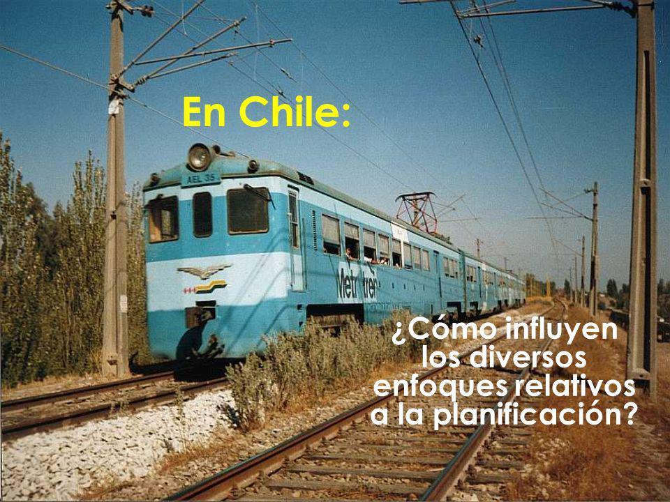 ¿Cómo influyen los diversos enfoques relativos a la planificación? En Chile: