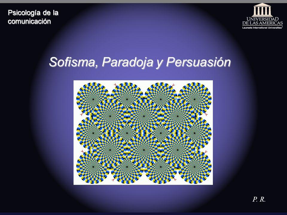 Sofisma y paradoja El sofisma conforma una argucia en la argumentación que consiste en seguir de premisas verdaderas conclusiones que no se siguen realmente de dichas premisas La paradoja es una contradicción como resultado de una deducción correcta a partir de premisas congruentes