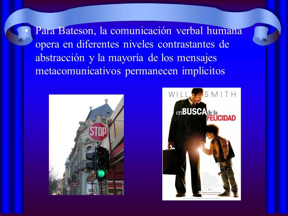 Double bind Término acuñado por Bateson para referir la situación comunicativa en la que una persona recibe mensajes contradictorios (ej.