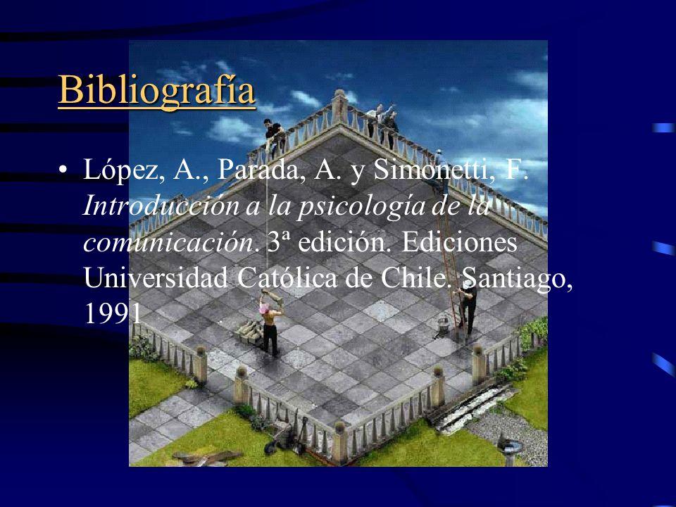 Bibliografía López, A., Parada, A.y Simonetti, F.