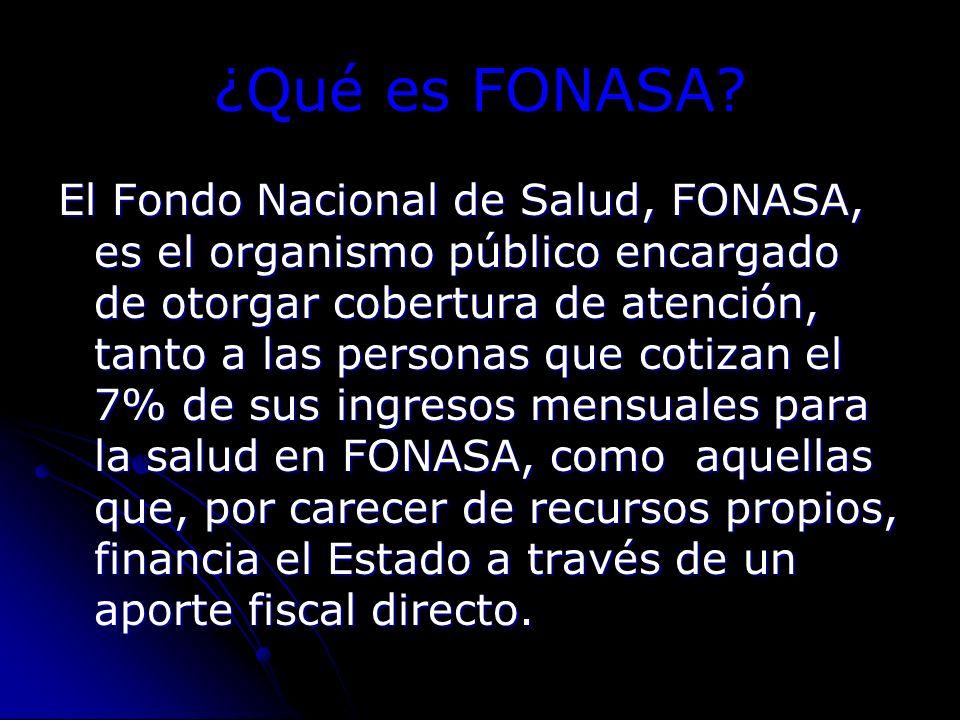 ¿Qué es FONASA.