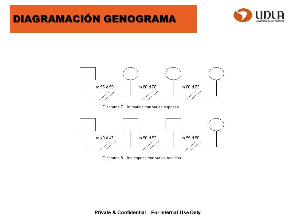 Private & Confidential – For Internal Use Only ECOMAPA El Ecomapa, permite visualizar la relación que establece la familia con su entorno social, pesquisa debilidades, fortalezas, influencias y apoyo a la familia.