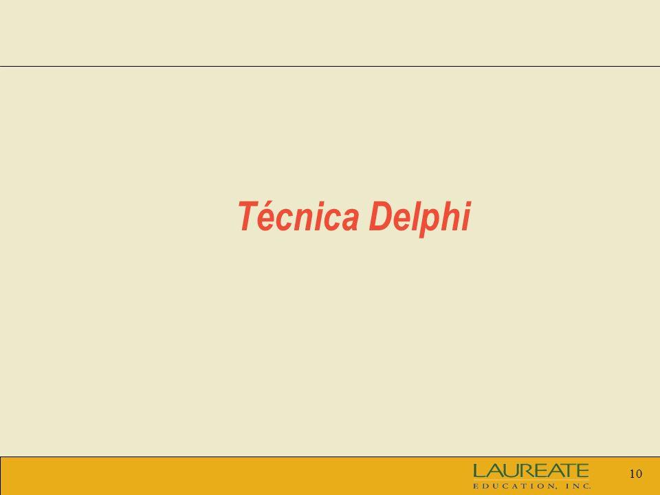 10 Técnica Delphi