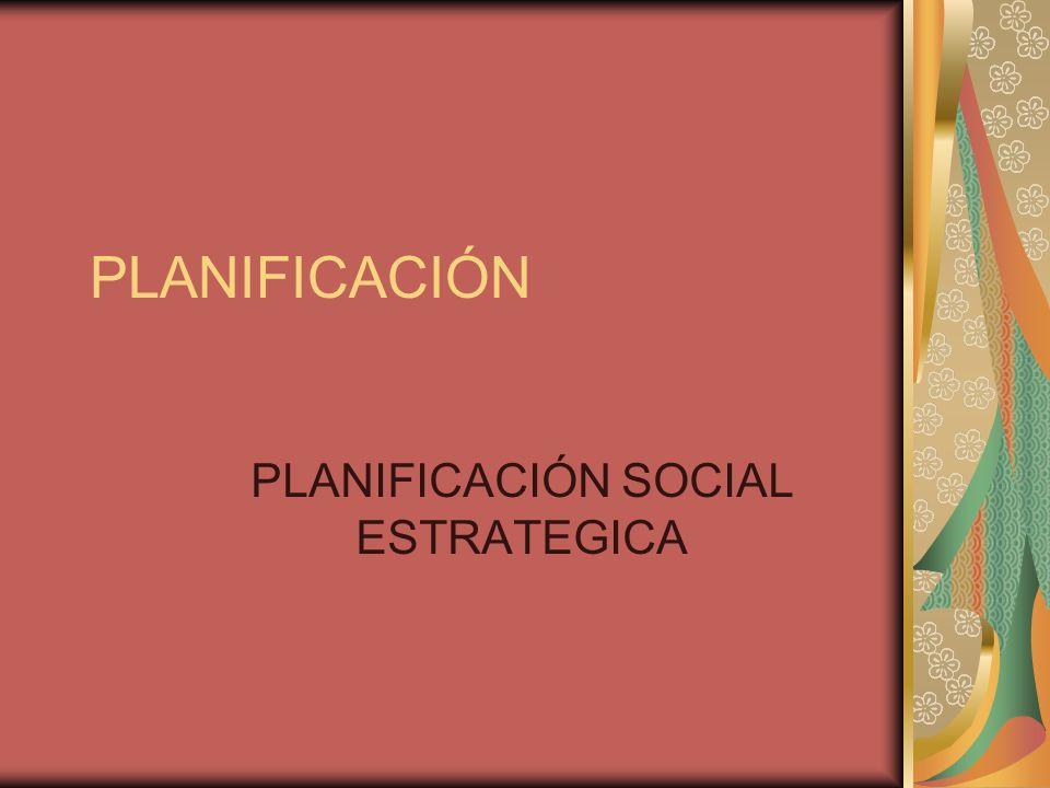 PLANIFICACIÓN PLANIFICACIÓN SOCIAL ESTRATEGICA