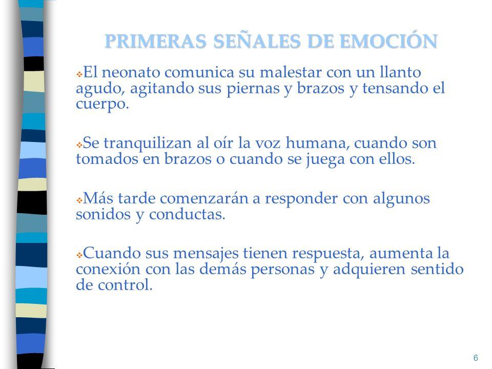 Influencias en el Apego: Son cruciales la calidad de la interacción con el (la) cuidador (a) y la estructura emocional del bebé.