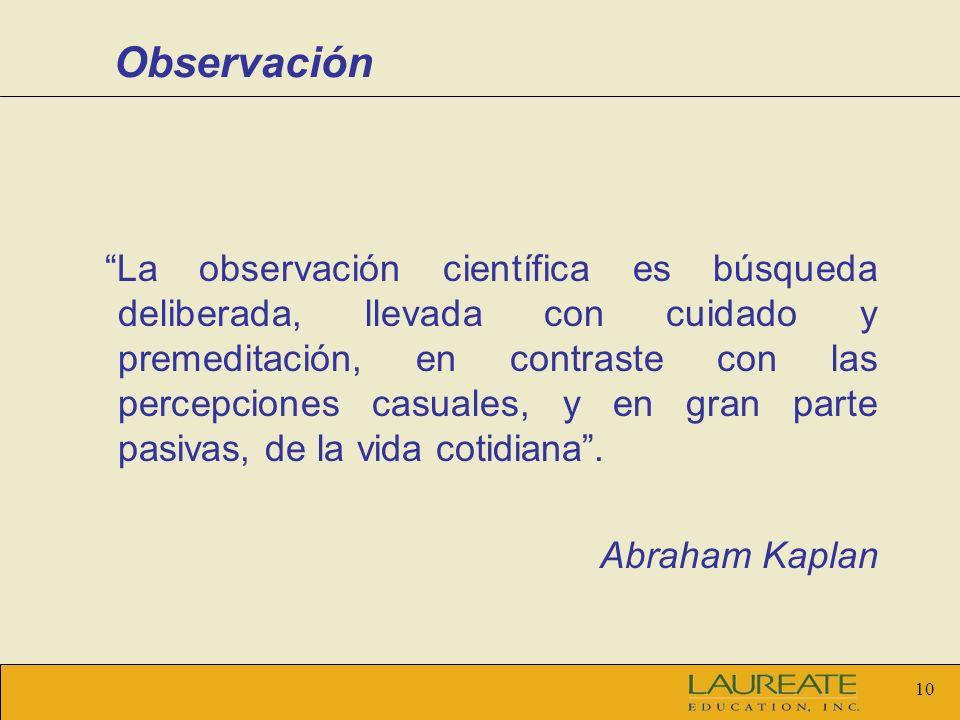 9 Observación