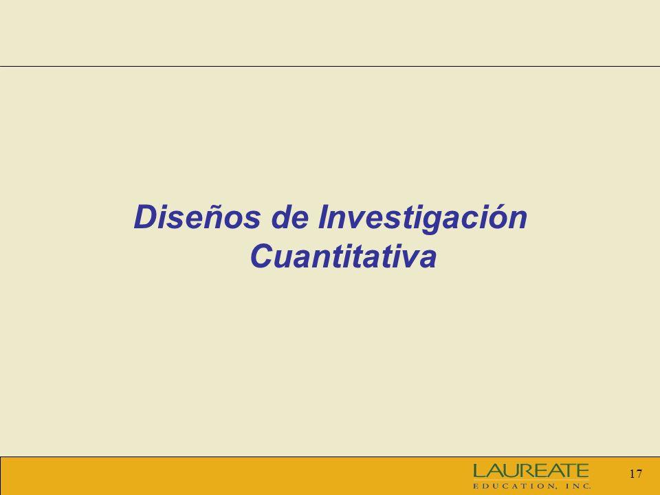17 Diseños de Investigación Cuantitativa