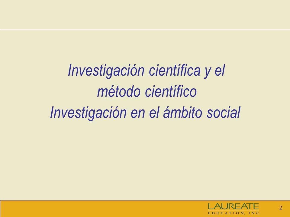 3 Unidad 1 Temas: La investigación científica y el método científico.