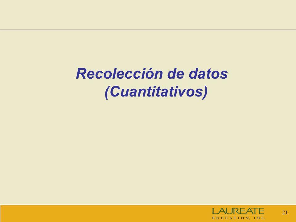 21 Recolección de datos (Cuantitativos)