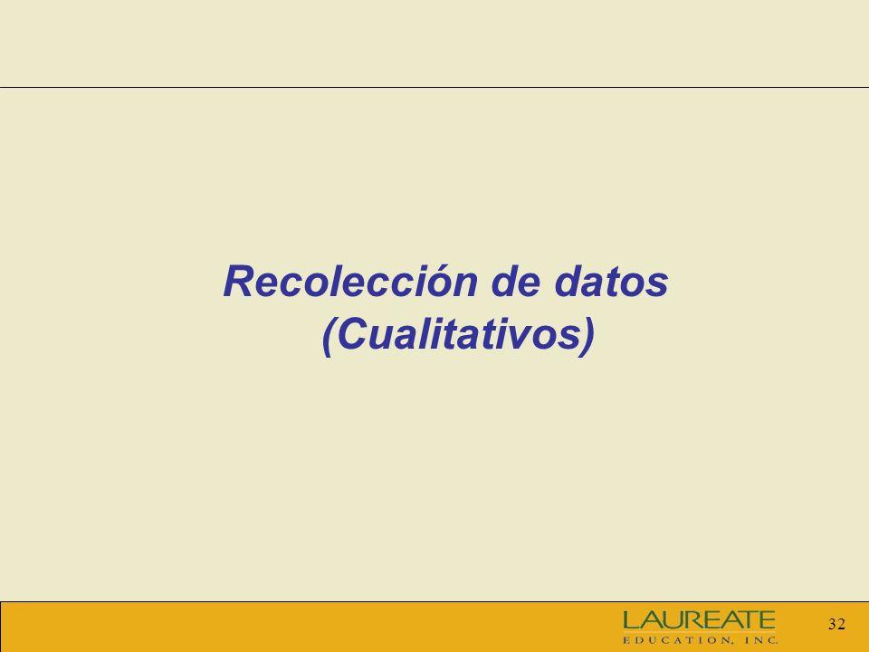 32 Recolección de datos (Cualitativos)