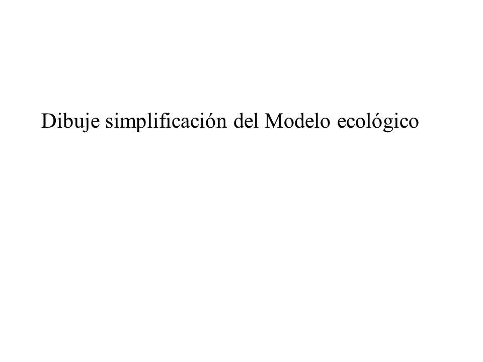 Dibuje simplificación del Modelo ecológico