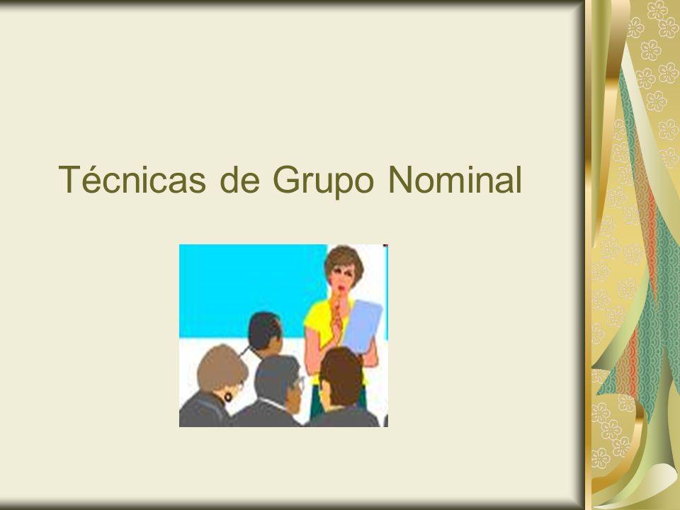 Técnicas de Grupo Nominal