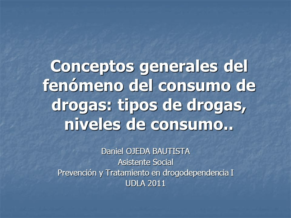 Consumo Ocasional La persona continúa utilizando la droga en grupo La persona continúa utilizando la droga en grupo Es capaz de llevar a cabo las mismas actividades sin necesidad de consumir drogas.