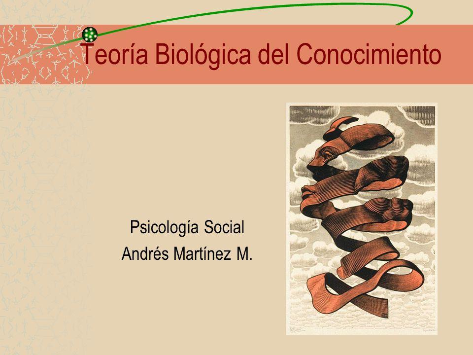 1 Teoría Biológica del Conocimiento Psicología Social Andrés Martínez M.
