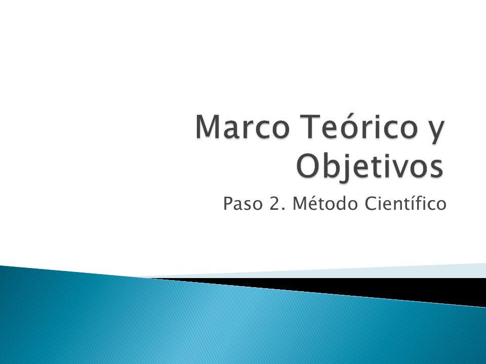 Paso 2. Método Científico