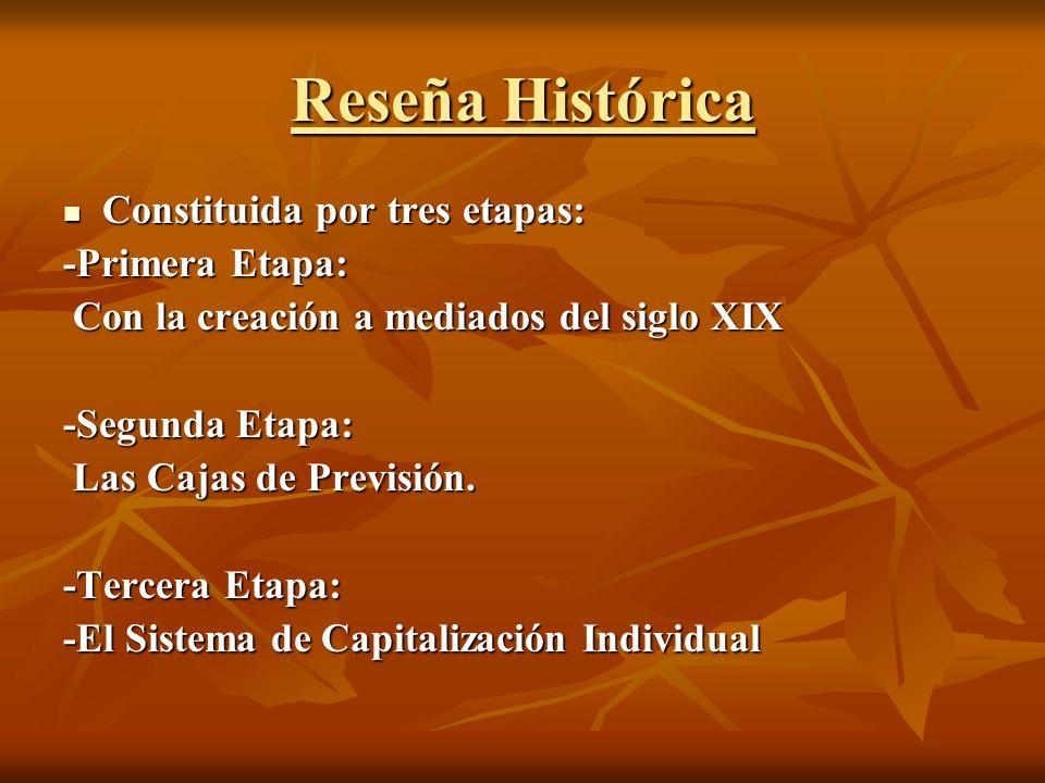 Reseña Histórica Constituida por tres etapas: Constituida por tres etapas: -Primera Etapa: Con la creación a mediados del siglo XIX Con la creación a