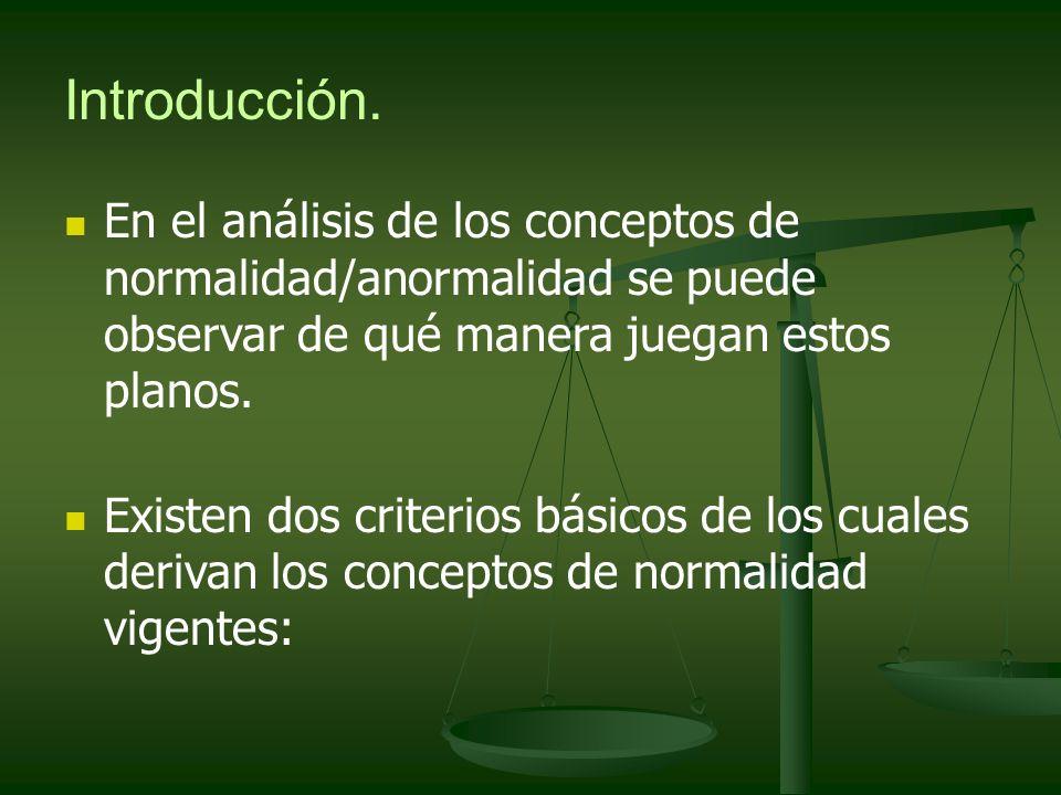 Conceptos Mixtos de Normalidad- Anormalidad y Salud-Enfermedad Se encuentra subsumido el concepto normal en el de salud.