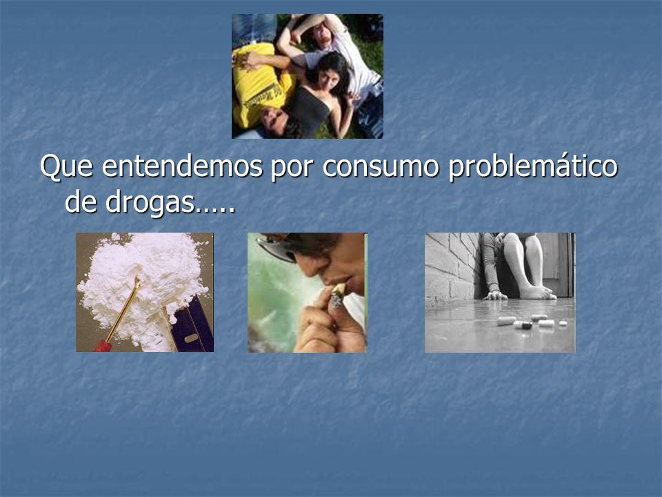 Que entendemos por consumo problemático de drogas…..