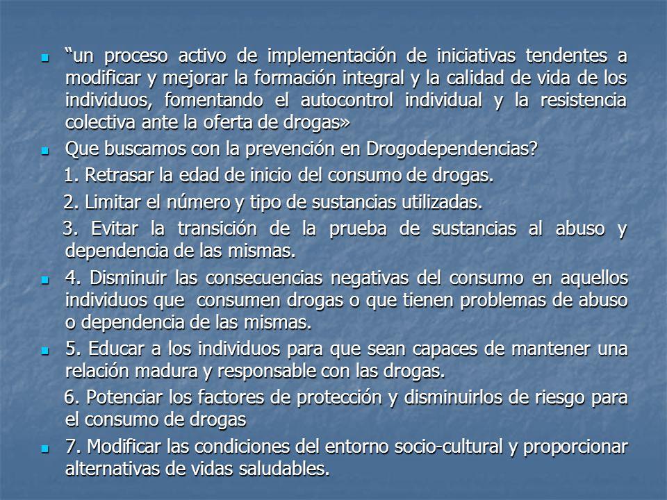 un proceso activo de implementación de iniciativas tendentes a modificar y mejorar la formación integral y la calidad de vida de los individuos, fomen