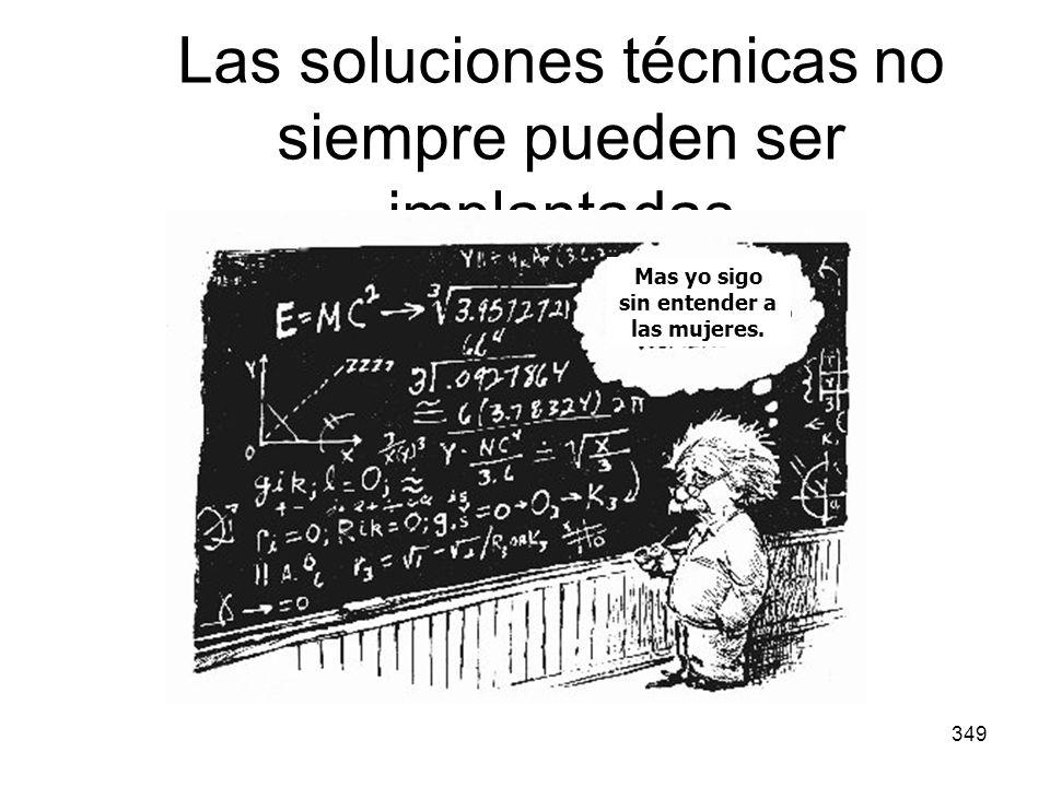 349 Las soluciones técnicas no siempre pueden ser implantadas Mas yo sigo sin entender a las mujeres.
