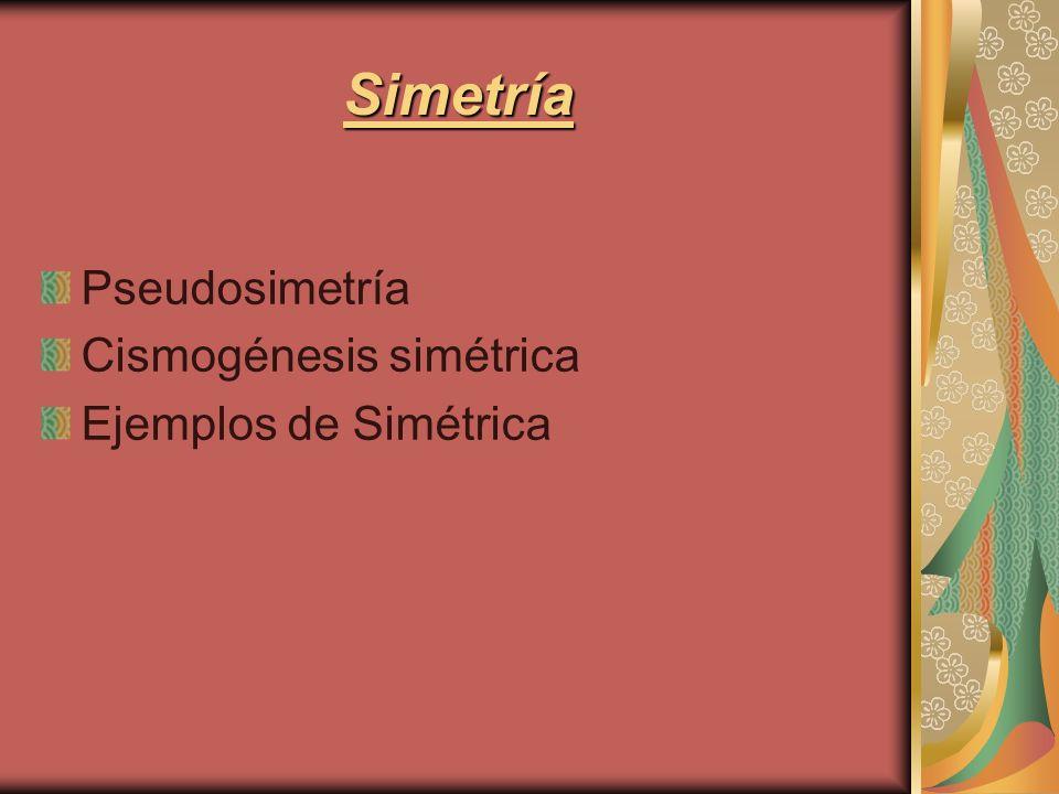 Pseudosimetría Cismogénesis simétrica Ejemplos de Simétrica Simetría