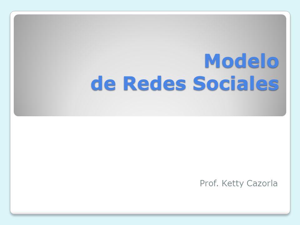 Modelo de Redes Sociales Prof. Ketty Cazorla