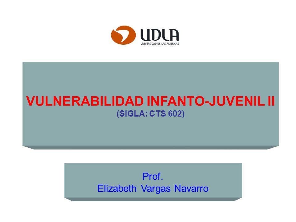 VULNERABILIDAD INFANTO-JUVENIL II (SIGLA: CTS 602) Prof. Elizabeth Vargas Navarro