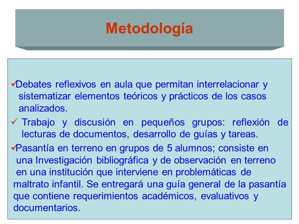 Debates reflexivos en aula que permitan interrelacionar y sistematizar elementos teóricos y prácticos de los casos analizados. Trabajo y discusión en