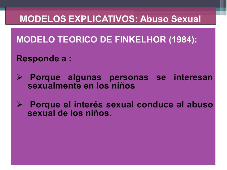 MODELOS EXPLICATIVOS: Abuso Sexual 1.