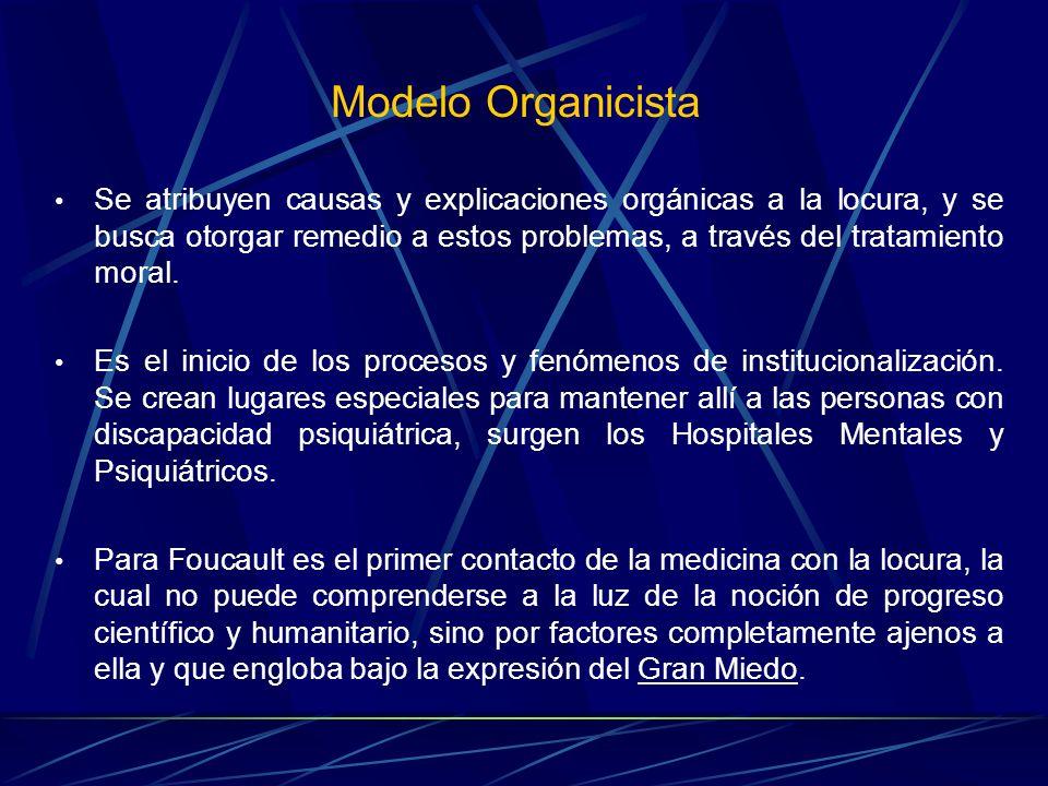 Se atribuyen causas y explicaciones orgánicas a la locura, y se busca otorgar remedio a estos problemas, a través del tratamiento moral. Es el inicio