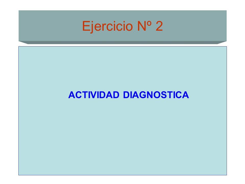 Ejercicio Nº 2 ACTIVIDAD DIAGNOSTICA