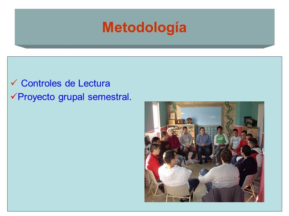 Controles de Lectura Proyecto grupal semestral. Metodología