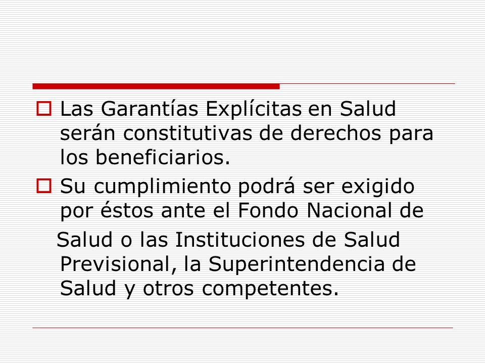 No están cubiertas : Prestaciones derivadas de problemas de salud que reúnan las condiciones exigidas para ser cubiertas por el régimen de Garantías Explícitas en Salud-GES.