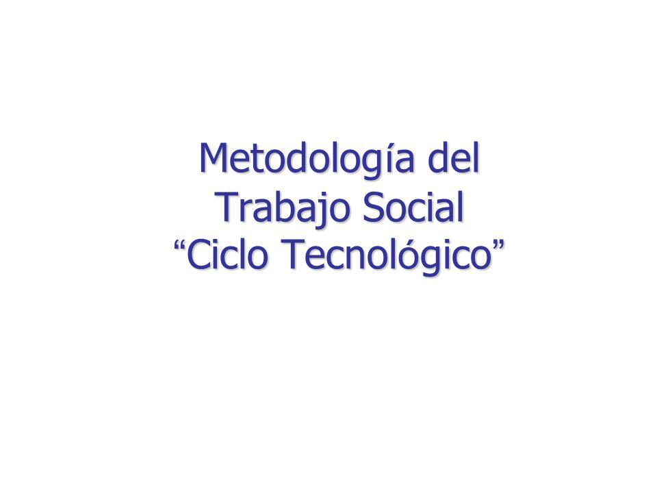 Metodolog í a del Trabajo Social Ciclo Tecnol ó gico Metodolog í a del Trabajo Social Ciclo Tecnol ó gico