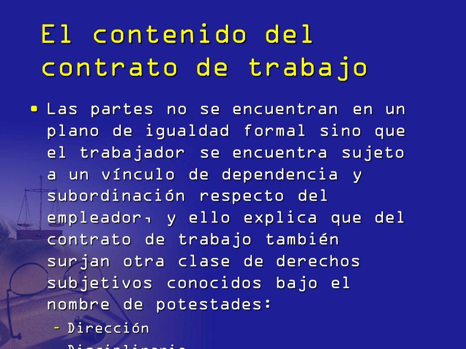 Potestad de dirección La potestad de dirección es una expresión de los derechos fundamentales del empleador de propiedad privada (art.