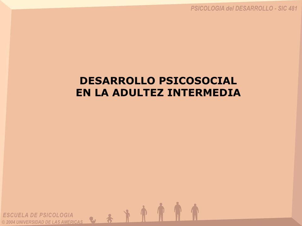 DESARROLLO PSICOSOCIAL EN LA ADULTEZ INTERMEDIA