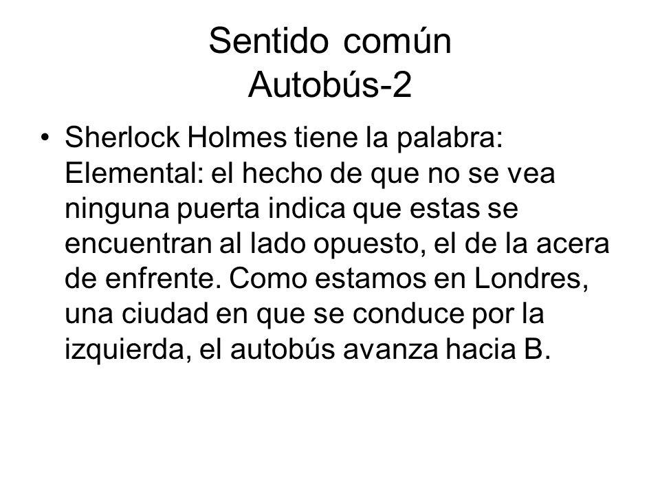 Sentido común Autobús-2 Sherlock Holmes tiene la palabra: Elemental: el hecho de que no se vea ninguna puerta indica que estas se encuentran al lado o