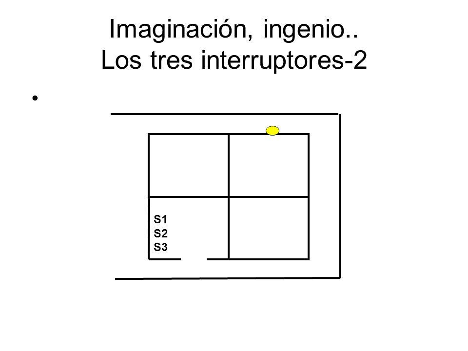 Imaginación, ingenio.. Los tres interruptores-2 S1 S2 S3