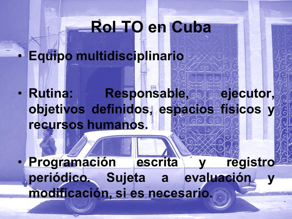 Equipo multidisciplinario Rutina: Responsable, ejecutor, objetivos definidos, espacios físicos y recursos humanos. Programación escrita y registro per