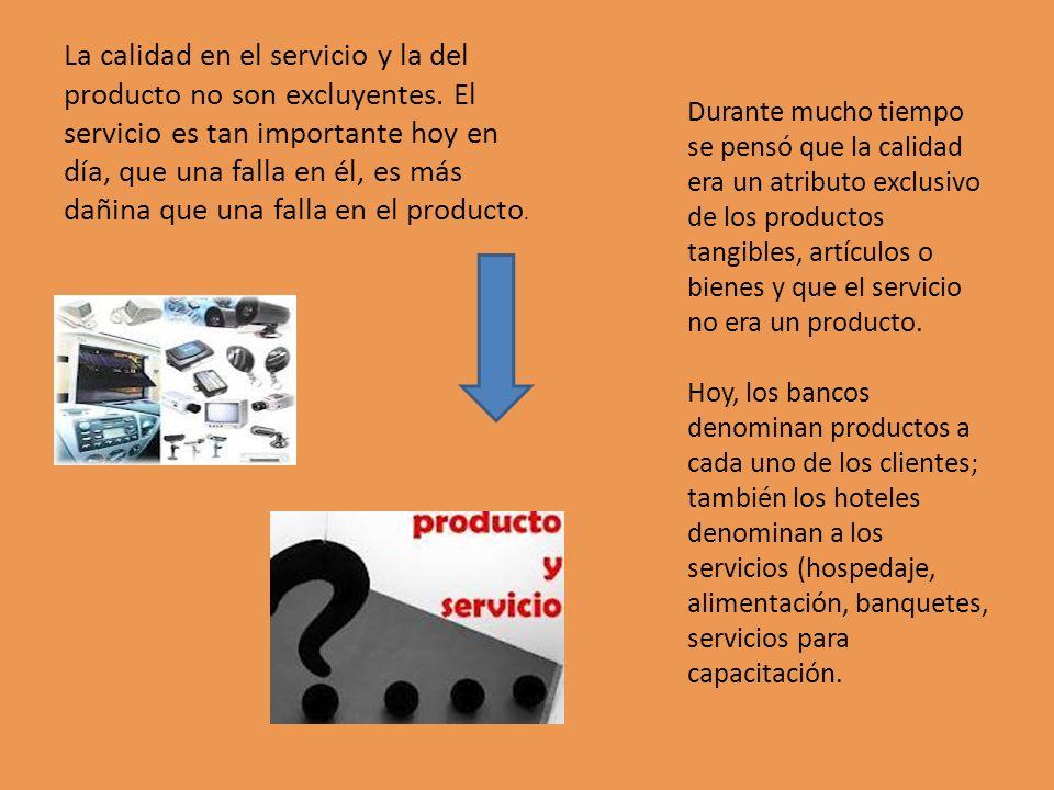 La calidad en el servicio y la del producto no son excluyentes. El servicio es tan importante hoy en día, que una falla en él, es más dañina que una f