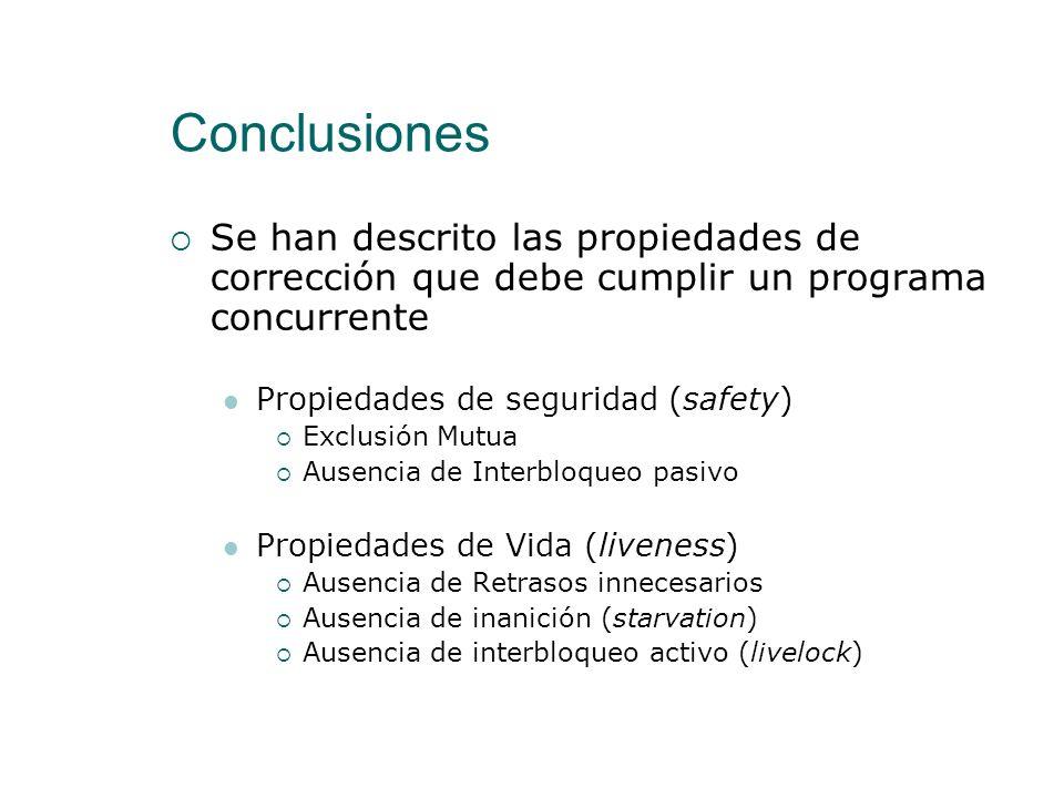 Sincronización con Espera Activa Introducción Sincronización Condicional Exclusión Mutua Espera Activa vs. Espera Pasiva Conclusiones 84