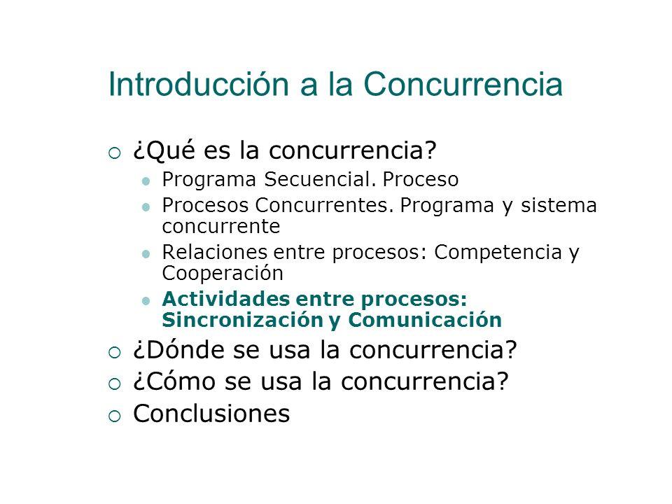 Relaciones entre procesos: Competencia y Cooperación Competencia Webcam Por ejemplo el acceso a una web-cam es un recurso de uso exclusivo por un únic