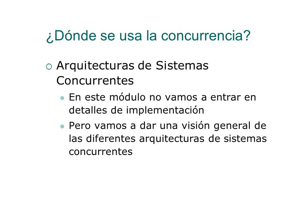 Introducción a la Concurrencia ¿Qué es la concurrencia? ¿Dónde se usa la concurrencia? Arquitecturas físicas Asignación de Procesos a Procesadores ¿Có