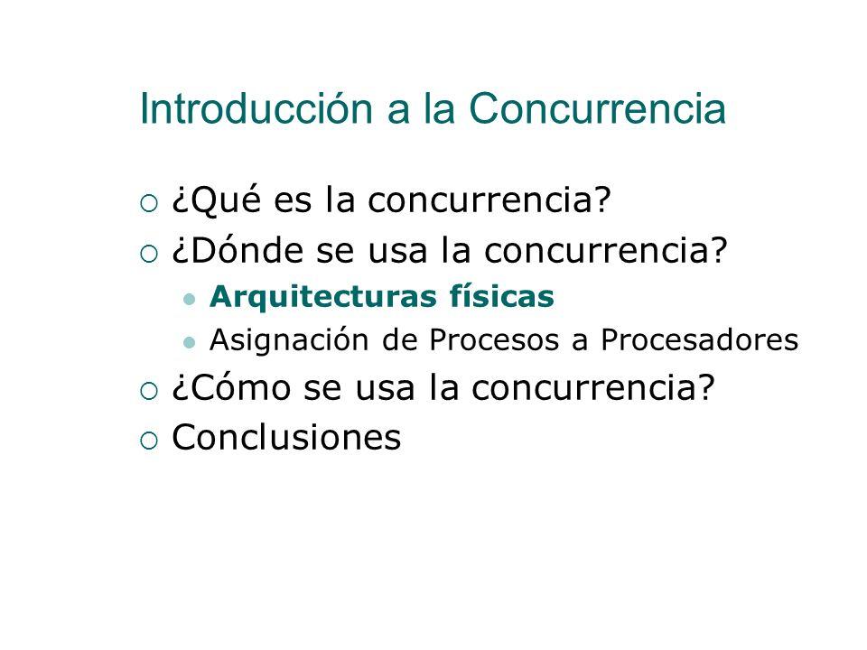 ¿Dónde se usa la concurrencia? Arquitecturas de Sistemas Concurrentes En este módulo no vamos a entrar en detalles de implementación Pero vamos a dar
